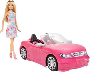 Coche Barbie descapotable+muñeca Mattel 57FPR