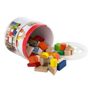 Construccion 50 Bloques De Madera Color Baby 40994