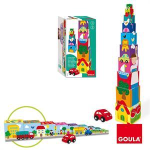 Cubos Apilables Coche 11 Piezas Goula  55202