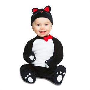Disfraz Bebé Gatito Negro Unisex 0-6 Meses Viving 204960