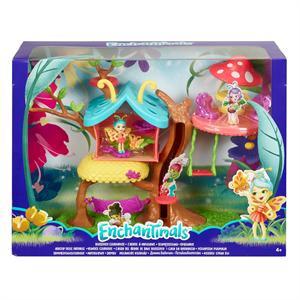 Enchantimals Casita del Árbol Bichiamigas +Muñeca 5cm Mattel 8GBX
