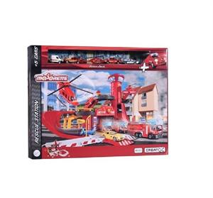 Estación de Rescate con 5 Vehiculos Majorette Creatix Simba 2050019