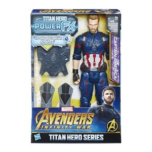 Figura Titan Hero y Mochila Power FX Capitán America Hasbro 607E