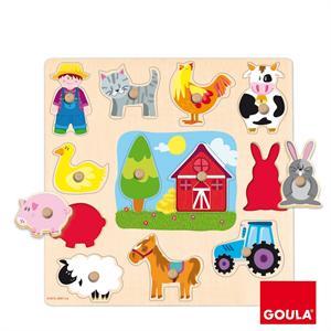 Goula Puzzle Encajable Granja Diset 53025