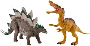 Jurassic World Super Ataque Doble Stegosaurus Mattel 06GDL