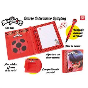 Ladybug Diario Interactivo Bandai 84963