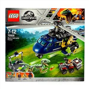 Lego Jurassic World Persecución en Helicoptero Blue 75928