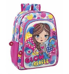 Mochila Glowlab Girls Adaptable Carro 42x33x14cm Safta 611823180