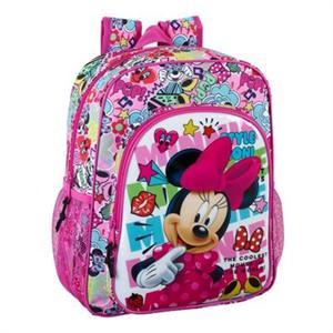 Mochila Junior Minnie Mouse Cool Adaptable Carro 32x12x38cm Safta 611848640