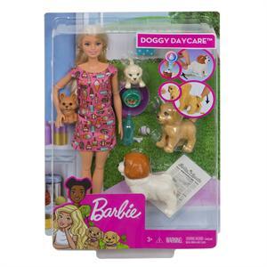 Muñeca Barbie y su Guarderia de Perritos Mattel 8FXH
