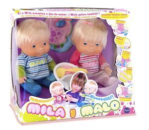 Muñecos Mila y Malo Famosa 714512
