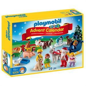 Playmobil 1.2.3 Calendario de Navidad  Granja de Animales 9009