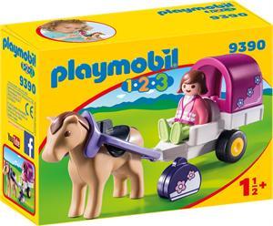 Playmobil 1.2.3 Carruaje de Caballos 9390