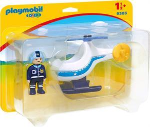 Playmobil 1.2.3 Helicóptero de Policia 9383