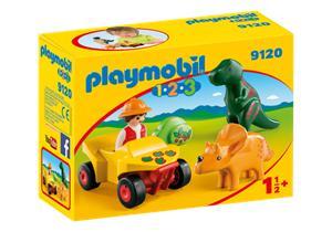 Playmobil 1.2.3 Quad con 2 Dinos 9120