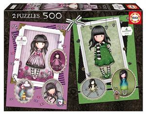 Puzzle Gorjuss Sugar Spice+Scarf 2x500 piezas Educa 17687