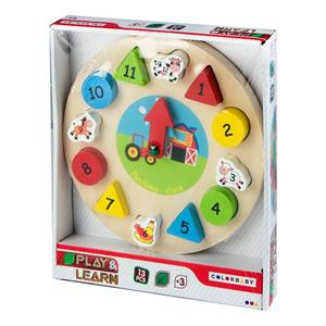 Reloj Puzzle Madera Color Baby 42141