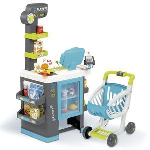 Supermercado City Market con Carro Smoby 350218