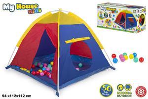 Tienda Dome 112x112x94cm con 50 bolas Color Baby 42767