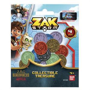 Zak Storm Pack 4 Monedas Bandai 41500