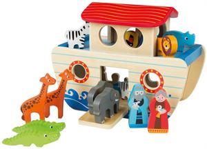 Arca de Noe de Madera 17 piezas Color Baby 46207