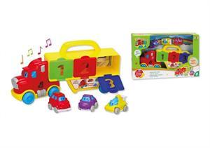 Camion con Luz y Sonidos con 3 Vehiculos Jugatoys 22017