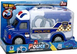 Camión Maletin Policia con Accesorios, Luz y Sonidos Jugatoys 22009