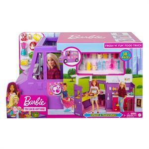 Camioneta de Comida de Barbie Food Truck con 30 Accesorios Mattel 7GMW
