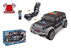 Coche Jeep Policia Portacoches Jugatoys 22249