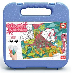 Colouring Activities Puzzle Dinosaurios 50 Piezas Educa 18069
