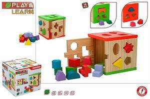 Cubo Actividades de Madera Woomax Color Baby 42139