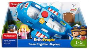 Fisher Price Avión Viaja Conmigo con Sonidos y 2 Figuras Mattel 7FKX
