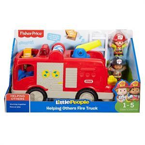 Fisher Price Camión Ayuda al Bombero con Luces y Sonidos Mattel 33FPV