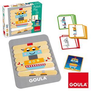 Goula Juego Construcción de Madera Robot Mix Diset 50212