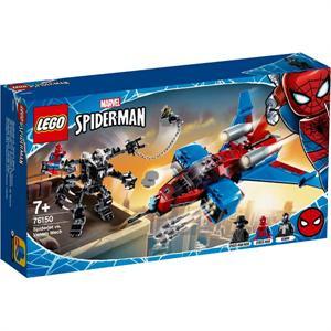 Lego Marvel Avengers Jet Arácnido vs Armadura Robótica de Venom 76150