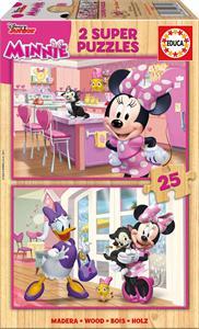 Minnie Puzzle Madera 2x25 Piezas Educa 17625