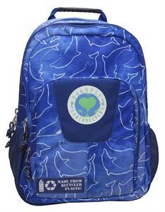 Mochila Adaptable a Trolley Earth Leaves Azul Material Reciclado 29x16x42cm CYP 97MCB