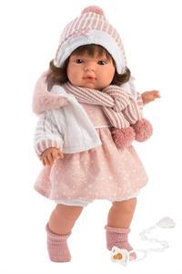Muñeca Lola Llorona con Vestido Rosa 38cm Llorens 38562