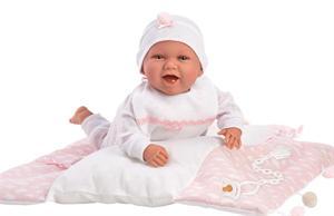 Muñeca Mimi Recien Nacido 42cm con Cambiador Rosa Llorens 74082