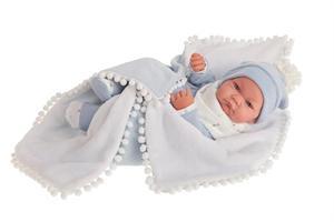 Muñeco Recien Nacido Nico con Manta Bolitas Antonio Juan 5079