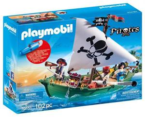 Palymobil Pirata Barco con Motor Submarino 70151