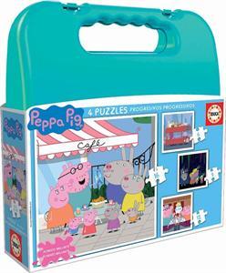 Peppa Pig Maleta 4 Puzzles Progresivos Educa 18112