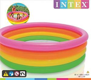 Piscina 4 tubos colores 168x46cm 617 litros de agua Intex 56441