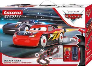 Pista Carrera Disney Go Cars Incluye 2 Coches (Rayo Y Storm) 5,3METROS Carrera 62518