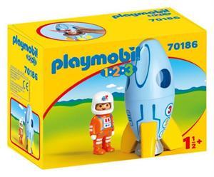Playmobil 1.2.3 Astronauta con Cohete 70186