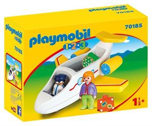 Playmobil 1.2.3 Avión Pasajero 70185