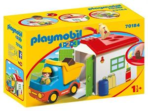 Playmobil 1.2.3 Camión Garaje 70184