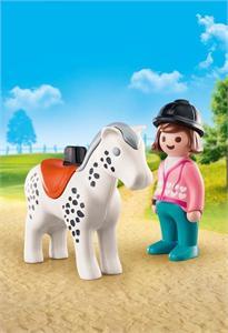 Playmobil 1.2.3 Jinete con Caballo 70404