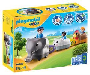 Playmobil 1.2.3 Mi Tren de Animales 70405