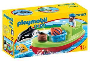 Playmobil 1.2.3. Pescador con Bote 70138